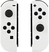 eXtremeRate Soft Touch Grip White Joycon Handheld Controller Housing with Full Set Buttons, DIY Replacement Shell Case for...