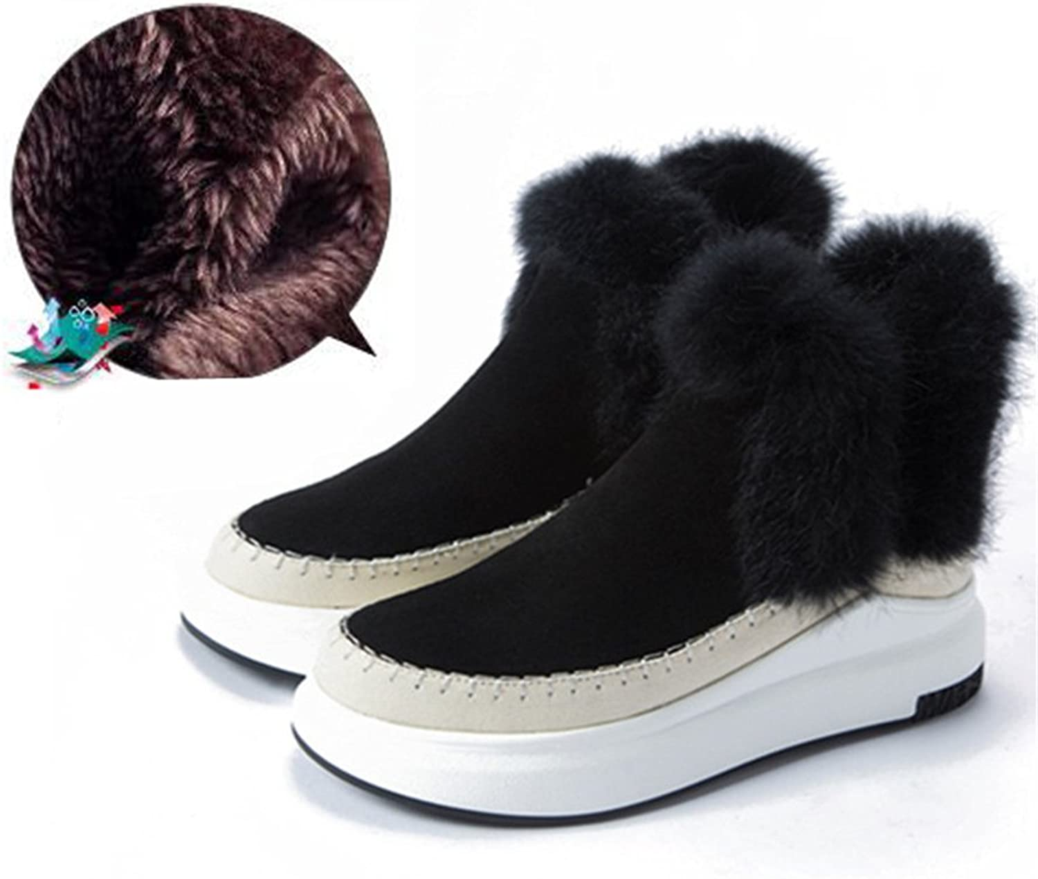 Xiaoyang Fur Female Warm Ankle Boots Women Boots Snow Boots and Autumn Winter Women shoes
