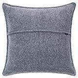 Soft-Fleece-Kissenbezug – Polarfleece mit Häkelstich – weiche, hochwertige Sofa-Kissenhülle – 50x50 cm – 940 medium grey mel. – von 'zoeppritz since 1828'