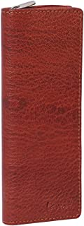 Laveri Genuine Leather Credit Card Holder Wallet Credit and Business Card Holder for Unisex - Leather, Brown