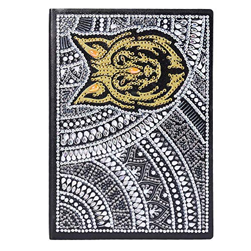 Seawang DIY Notitieboek, A5 Schrijven Notitieboekje Diamant Schilderen Kits Notitieboekje Schetsboekje Planner met Kleurrijke 5D Diamant voor Meisjes en Jongens