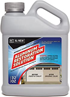 AL-NEW Aluminum Restoration Solution | Clean + Restore + Shine + Polish Garage Doors, Window Frames, Patio Furniture, and Stainless Steel (32 oz.)