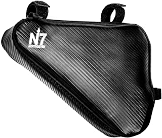 northseven Carbon Triangle Frame Bag - 100% Waterproof & Lightweight for MTB and Road Cycling | Adjustable Non-Scratch Velcro Design | Holds Large Cell Phones, Wallets, Gels, Tools and More!