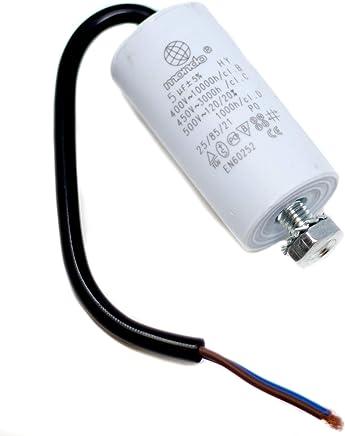 10Pcs CBB22 105J 400V Capacitores de pel/ícula metalizada 1UF P20mm Capacitores de pel/ícula delgada Bogji