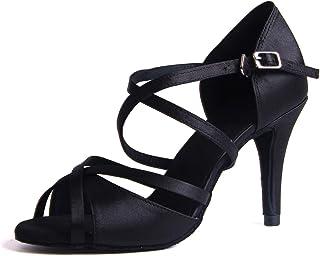 Zapatos de Baile Latino para Mujer Salsa Tango Moderna Bachata Vals Zapatos de Baile de Salón Suela Blanda 1010
