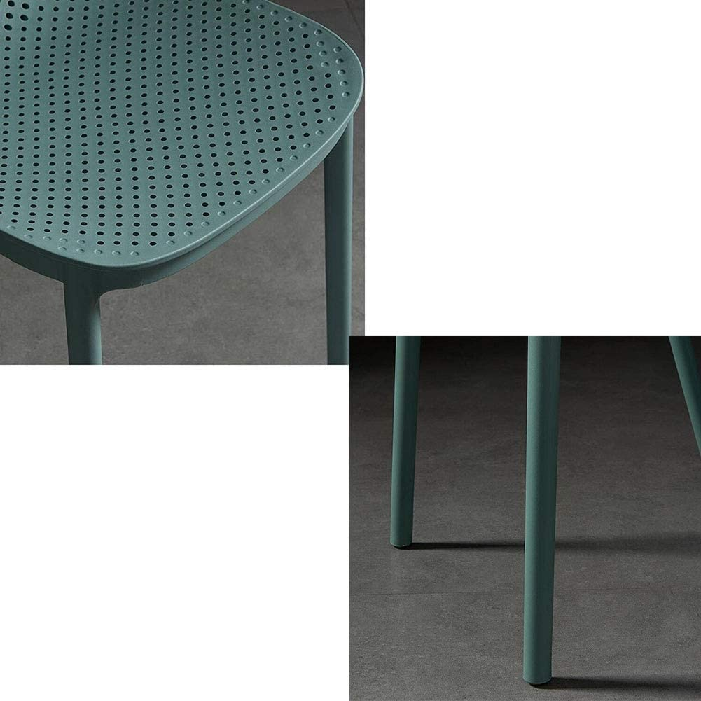 DALL Chaise De Salle À Manger Loisirs Nordiques Chaise De Table Dossier Plastique Chaise De Café Empilable Restaurant Chaise De Réception 44X48X80cm (Color : Green) Green