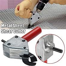 Nibble Metal Cutting Sheet, 4EVERHOPE Nibbler Sierra Herramienta de corte Tijeras de taladro eléctrico Sierra de tijeras para herramientas de corte