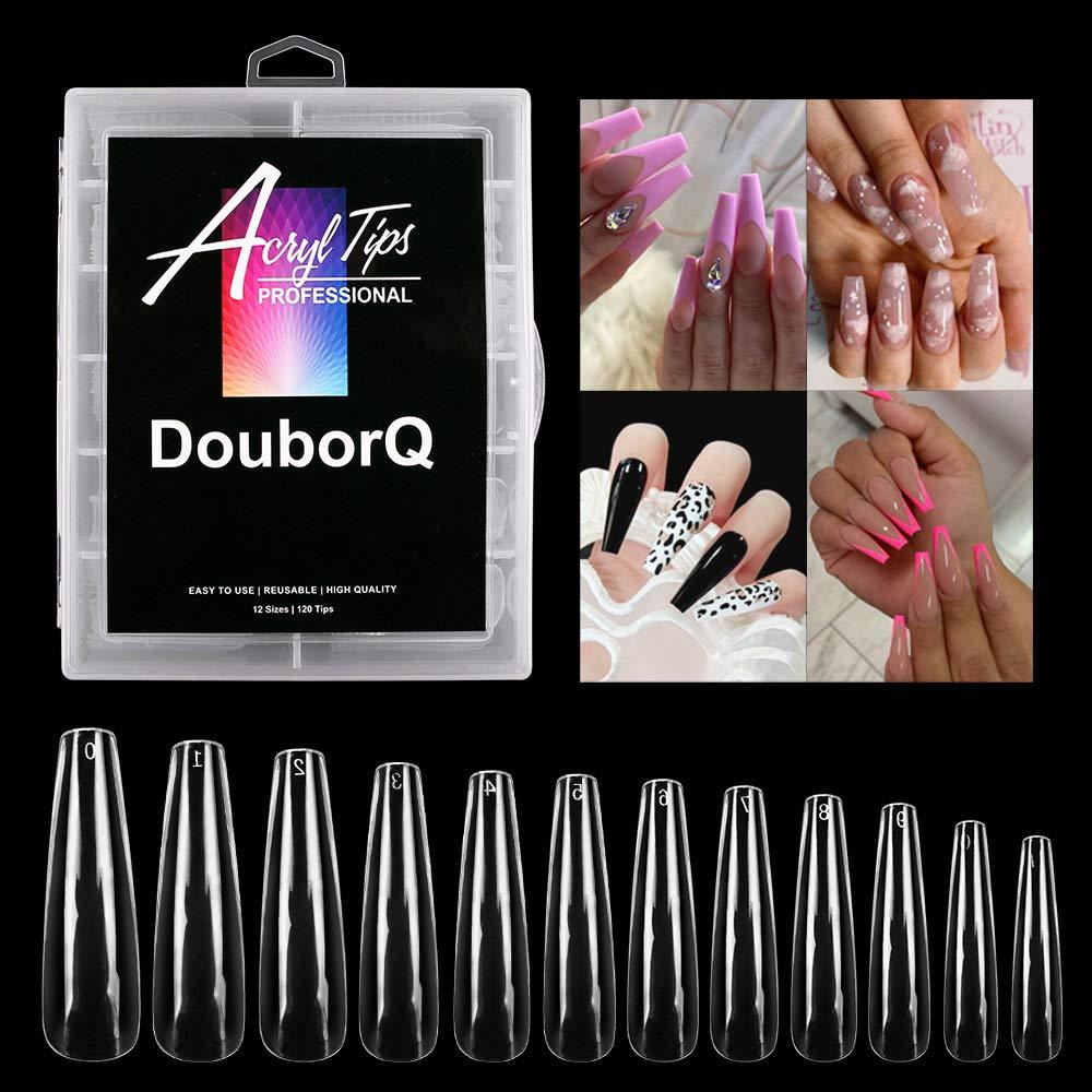 DouborQ 120Pcs Popular standard Extra Long Ballerina False X Tips Nail Full Cover latest