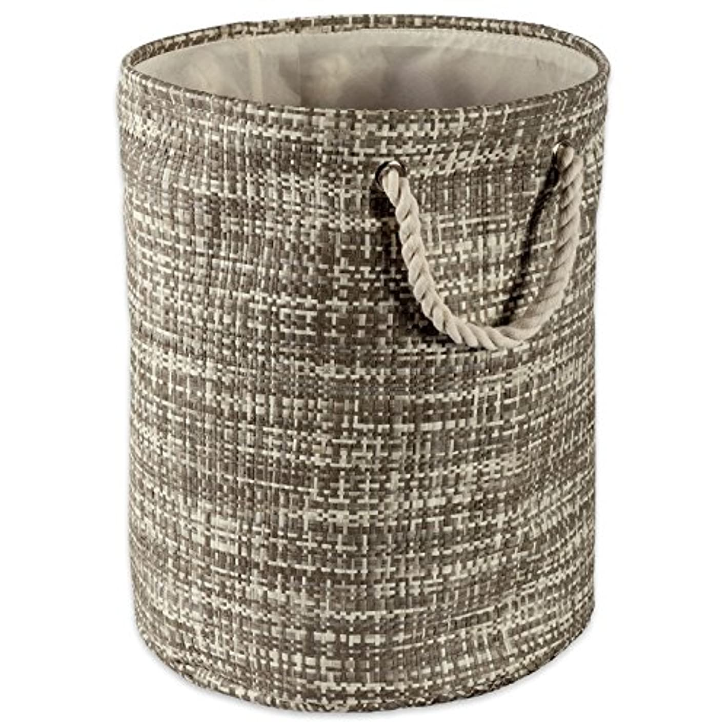 DII Woven Paper Basket or Bin, Collapsible & Convenient Organization & Storage Solution for Your Home (Large Round - 15x20