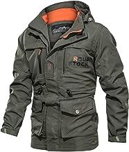 LILICHIC_Men's Coat Men's Fashion Casual Cap Jacket Fashion Large Comfortable Jacket Coat