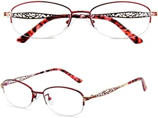 Comfortable HD Anti-Blue Light Reading Glasses Female Elegant Old Old Glasses 100/150/200/300 Degrees Beautiful (Color : Red, Size : +2.50)