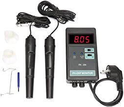 OW-204 2 in 1 Digital PH ORP Controller Monitor Temperature Control Monitor ORP Meter Oxidation Reduction Potentiometer for Hydroponics Tank Monitor