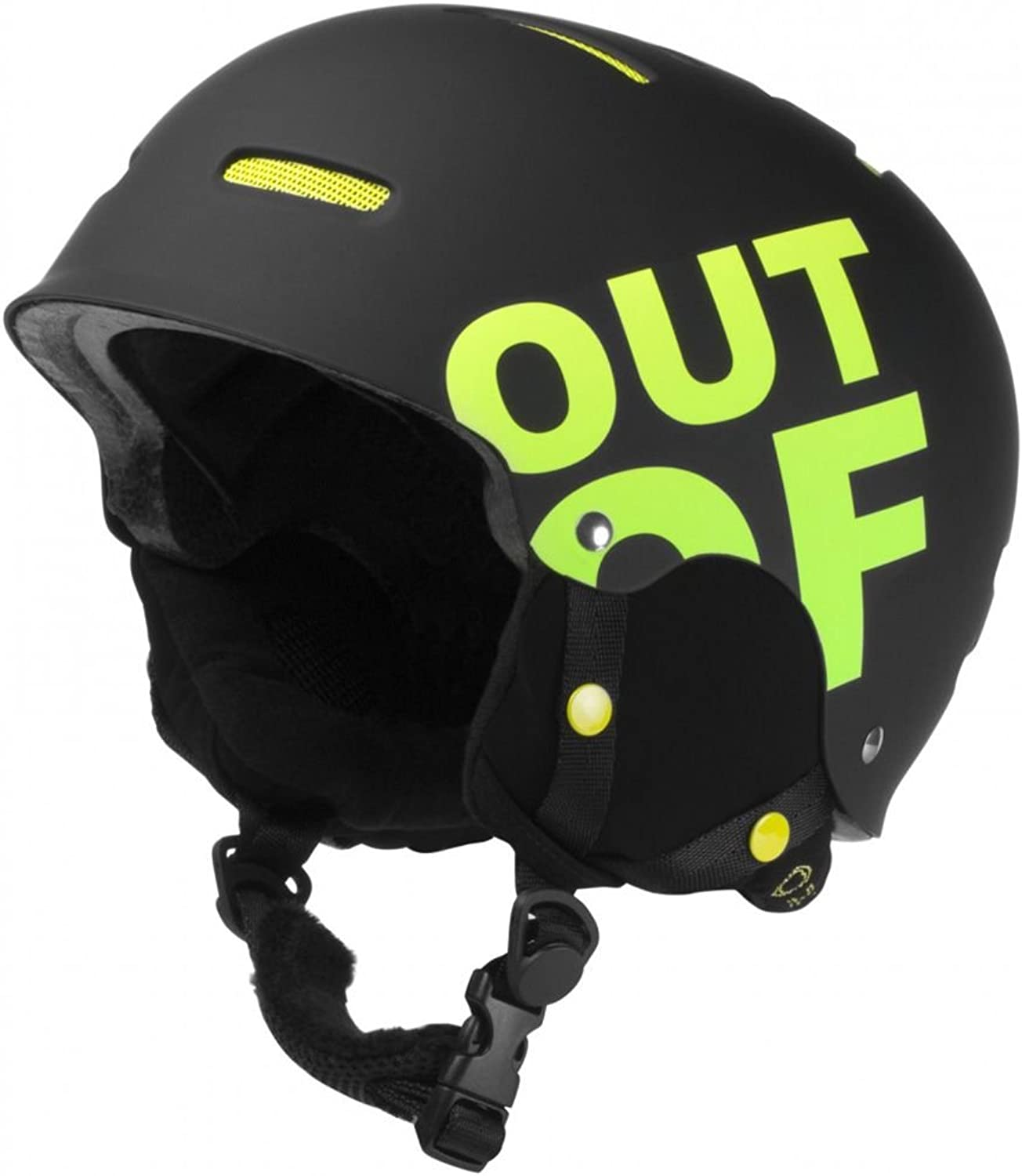 Gelb schwarz whipout Of Snowboard Helm B01NBJ5QWC Out