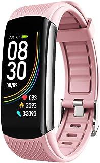 Fitness Activity Tracker Smart Watch Reloj para hombres Mujeres, medidor de ejercicios Paso Distancia Distancia MEDICIÓN CORAZÓN CORAZÓN Presión arterial Blood Oxygen Sleep Pulsera inteligente,Rosado