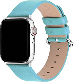 Fullmosa 15 Colors For Apple Watch Bands 42Mm, Yan Calf Leather Replacement Band/Strap With Stainless Steel Clasp For Iwat...