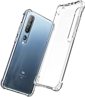 QHOHQ Case voor Xiaomi Mi 10/Mi 10 Pro (niet voor Xiaomi Mi Note 10/Note 10 Pro), Transparant Ultra Slim Zachte Siliconen ...