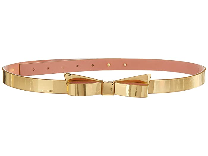 Kate Spade New York 19 mm Classic Bow Belt (Gold) Women