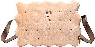 Everpert Teenage Girls Shoulder Bags Plush Biscuit Pattern Crossbody Bag