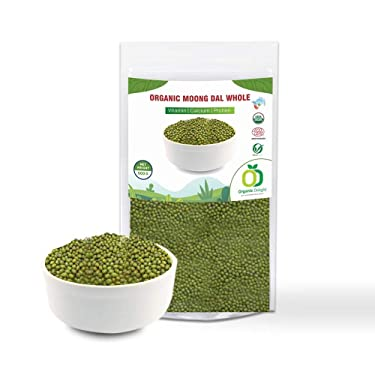 Organic Delight Whole Green Polished Moong Dal - (500 g)