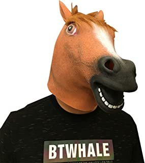 Deluxe Novelty Halloween Costume Party Latex Animal Head Mask Horse head Animal Masks for Adults and Kids