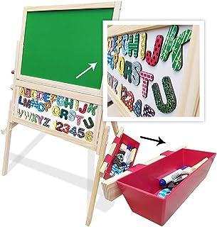 Lousa Magnética Infantil Com Cavalete Letras Giz e Caneta