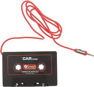 KESOTO Transmissores Adaptadores de Fita Cassete AUX 3,5 Mm para Carro áudio IC800 para Mp3 Preto