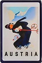 Cartel de chapa, diseño de Austria para esquiar, vacaciones, alpinos, 20 x 30, 453