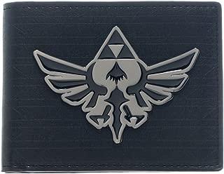 Official Zelda Black Bi-fold Wallet with Silver Metal Badge