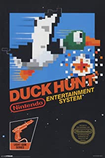 Pyramid America Duck Hunt Nintendo NES Light Gun Shooter Video Game Console Cover Box Cool Wall Decor Art Print Poster 12x18