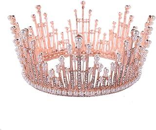 FELICILII Circle Pearl Completa Delicato Ciondolo Barocco Nuziale diadema della Sposa della Principessa Crown Accessorio f...