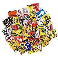 USA アメリカン 警告 ワーニング おしゃれ デザイン シール ステッカー 50枚セット まとめ買い アソート デザイン指定不可 シール ; STK-015