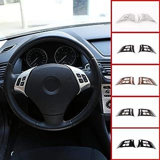 DYBANP Coprivolante Pelle Scamosciata Nera Cucita a Mano Fai da Te per BMW M Sport M3 E90 E92 E91 E93 E87 E81 E82 E88 X1 E84