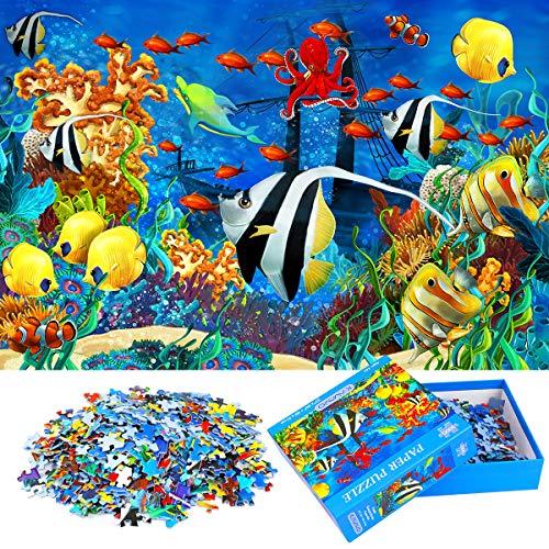 1000 Teiliges Puzzle für Erwachsene,「Ozean」,Familien recycelbare Materialien und hochauflösendes Druckpuzzle,Familienspiel,Geschenk und Geschenk für Liebhaber oder Freunde.