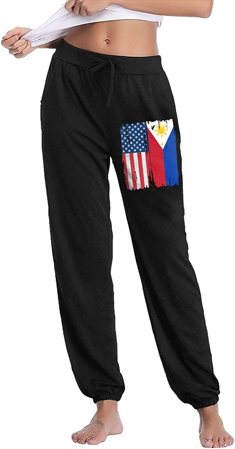 PT48dw-5 American Philippines Cash special price Flag Casual Pan Women's Sweatpants Houston Mall