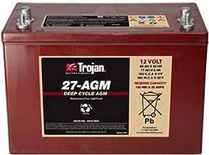 Trojan T27-AGM 12V 89Ah Group 27 Dual Purpose Deep Cycle Battery FAST USA SHIP