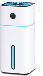 COSSCCI Ultrasonic Cool Mist Humidifier Portable USB Mini Humidifier for Desk Car Travel Home Office Baby Bedroom with 7 Colors Night Light and Auto Shut-Off (180ML)