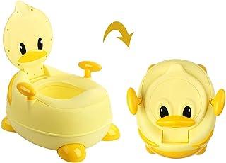 BAMNY Orinal Pato Water Infantil 3 en 1 con Tapa y Asiento acolchado para Niños, Bebe Aprendizaje Inodoro WC