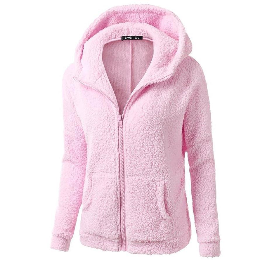 Vovotrade Women Hooded Sweater Cardigan Winter Warm Wool Coat Zipper Jacket Cotton Trench Coat Outwear