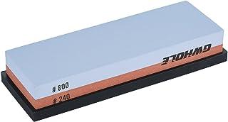 GWHOLE Whetstone Knife Sharpening Stone 240/800 Grit - Rubber Stone Holder Included