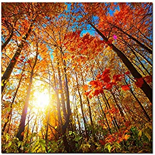 Pyradecor Large Canvas Prints Wall Art Last Hint of Sunset Pictures Paintings for Living Room Bedroom Home Decorations Modern Stretched and Framed Nature Landscape Artwork