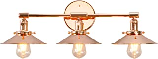 Phansthy Vanity Lights 3 Lights Wall Sconce with 7.87 Inches Metal Lamp Shade (Copper Finish)