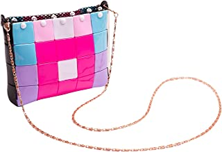 BEJOY DIY Blocks Bag My Geometric Style Fashion Handmade Handbags Purse Puzzles Toy for Kids Rose 6 Inches