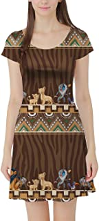 Rainbow Rules Tribal Stripes Lion King Disney Inspired Short Sleeve Dress