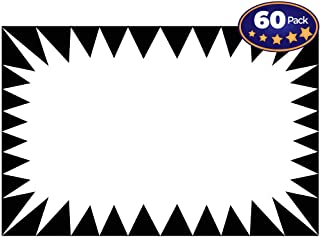 Retail Genius Price Burst 60 White Sign Pack. Boost Sales with Bright Display Tags. Durable, Easy to Write On Star Cards Are For Yard, Estate & Garage Sale, Fundraiser, Store, Business & Flea Market.
