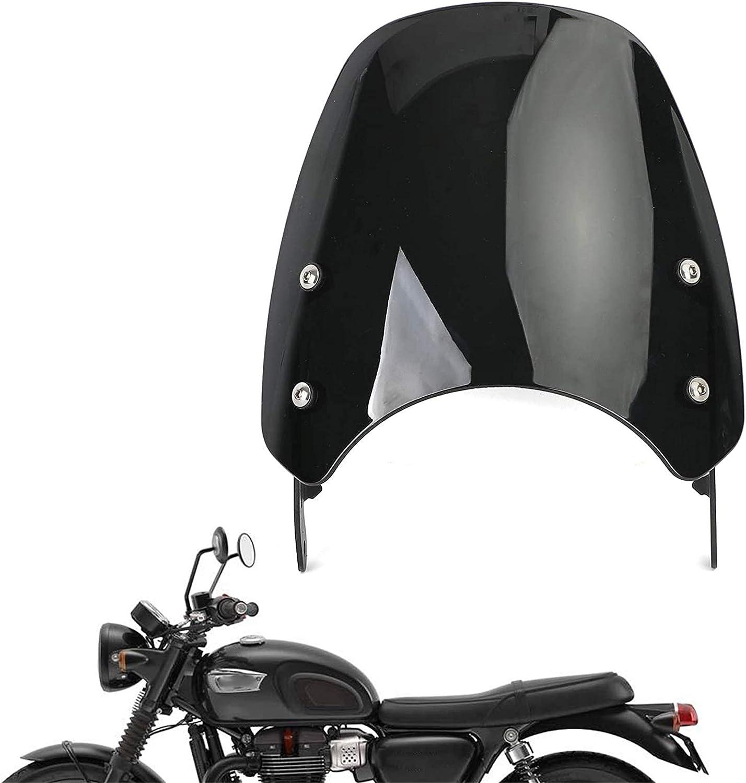 Color : Black Thruxton 900 20032015 Schutz Professional level Bonneville T100 20.032.017 Motorrad Windschutzscheibe Windschutzscheibe Windschutzfolie passend for Triumph Bonneville 20012017