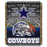 NORTHWEST NFL Dallas Cowboys Woven Tapestry Throw Blanket, 48' x 60', Home Field Advantage