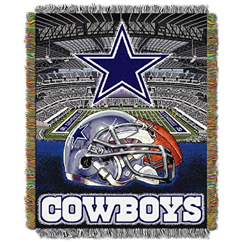 NORTHWEST NFL Dallas Cowboys Woven Tapestry Throw Blanket, 48' x 60',...