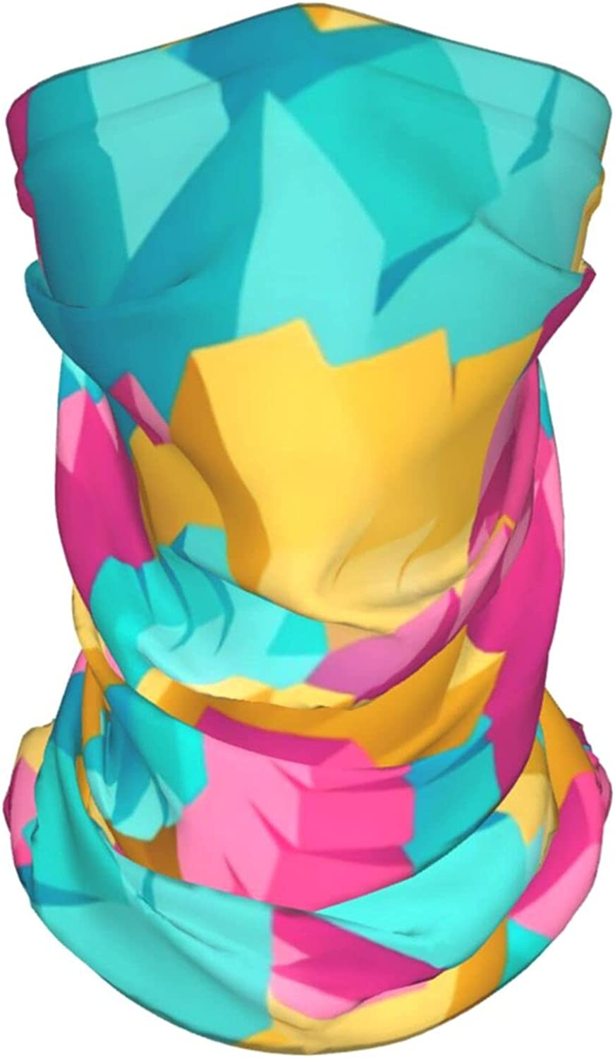 Abstract Geometric2 Neck Gaiter Multipurpose Headwear Ice Silk Mask Scarf Summer Cool Breathable Outdoor Sport 2 Pcs