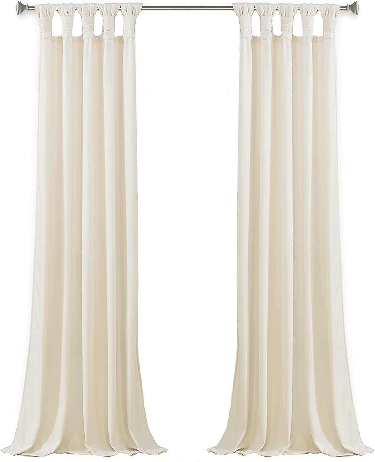 StangH Cream White Velvet Curtains Outstanding Cu Easy-to-use Luxury Decor Home -