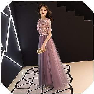 Cheongsam Oriental Pink Wedding Female Noble Cheongsam Off Shoulder Evening Dress